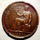 7.630 SPANIA 50 CENTIMOS 1937, Europa, Bronz