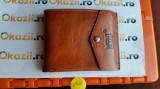 Portofel Montblanc Platinum Leather Collection cod 844, Maro