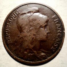 7.625 FRANTA 5 CENTIMES 1909, Europa, Bronz