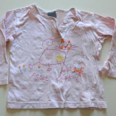 Bluza de casa, bluzita interior pentru fetite, 2-3 ani, cu pisica, Culoare: Roz, Fete