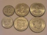 SET 5, 25, 2,5 escudo  1977 comemorativa Portugalia