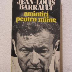 AMINTIRI PENTRU MAINE -JEAN LOUIS BARRAULT - Carte Cinematografie