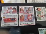 Liberia serie J.O. 1987 MH