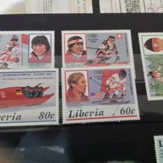 Liberia serie J.O. 1987 MH - Timbre straine