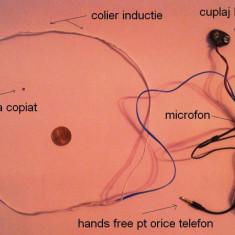 Casca pe timpan spy nedetectabila samsung/ iphone, magneti wireless