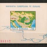 Romania.1977 Navigatia europeana pe Dunare-colita nedantelata CR.522 - Timbre Romania