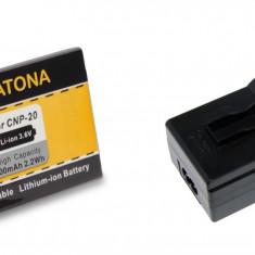 1 PATONA   Incarcator + Acumulator compatibil Casio NP-20 NP20 NP 20 - Incarcator Aparat Foto