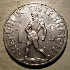 7.702 AUSTRIA 1 SCHILLING 1952, Europa, Aluminiu