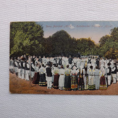 Carte postala, circulata.Dans popularl, Hora. Are stampila de cenzura.Reducere! - Carte Postala Muntenia 1904-1918, Bucuresti, Fotografie