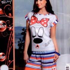 Pijama dama vara - pijama dama - pijama bumbac cod: 4408 - Pijamale dama, Marime: Marime universala, Culoare: Din imagine