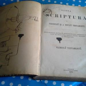 SANTA SCRIPTURA  A VECHIULUI  SI A NOULUI TESTAMENTU, 1874, 916 PAG,IASI,GOLDNER