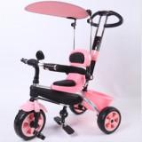 Tricicleta copii cu copertina si maner de ghidare reglabil