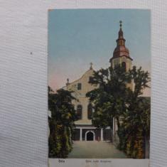 Carte postala veche.Dej, biserica Romano-Catolica. - Carte Postala Transilvania 1904-1918, Circulata