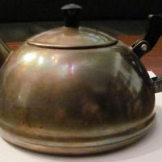 CY - Ceainic vechi argintat URSS / Rusia - Metal/Fonta, Vase