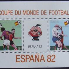 ZAIR 1982 - CUPA MONDIALA DE FOTBAL 1 S/S, NEOBLITERATA - ZA 011
