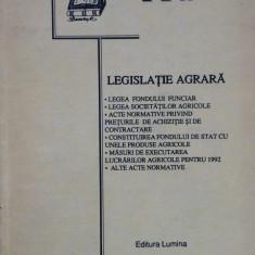 LEGISLATIE AGRARA - Carte Legislatie