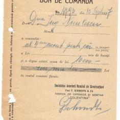 BON DE COMANDA F SCHMIDTS SI FII 1937