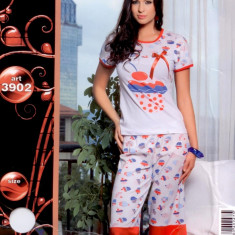 Pijama dama vara - pijama dama - pijama bumbac cod: 4413 - Pijamale dama, Marime: Marime universala, Culoare: Din imagine