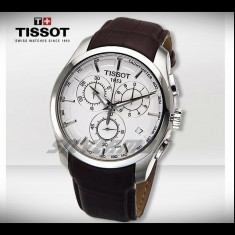 Ceas Tissot Couturier Alb barbatesc - Ceas barbatesc Tissot, Casual, Quartz, Inox, Cronograf, Analog