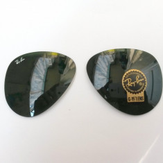 LENTILE LENTILA OCHELARI SOARE Ray Ban 3025 Aviator RayBan Verzi inchise negre - Lentile ochelari