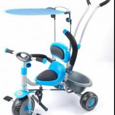 Tricicleta copii cu copertina si maner de ghidare detasabil