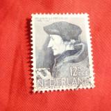 Timbru 12 1/2 C, albastru Olanda, stampilat, serie Personalitati
