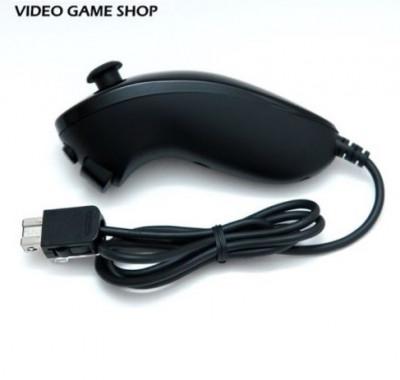 Maneta nunchuck Nintendo Wii controller black negru foto