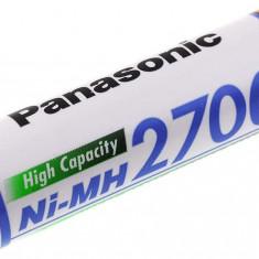 Acumulator Panasonic Mignon HR-3U AA 2700mAh NiMH - Baterie Aparat foto Panasonic, Tip AA (R6)