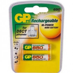 Acumulator original GP HR03 2buc./blister 650mAh - Baterie Aparat foto Gp, Tip AAA (R3)