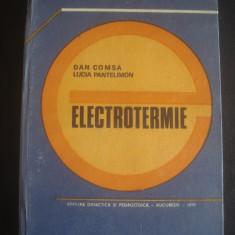 DAN COMSA * LUCIA PANTELIMON - ELECTROTERMIE - Carti Energetica