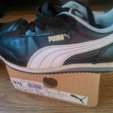 Vand adidasi copii originali marca Puma, Marime: 28, Culoare: Negru, Baieti, Piele naturala