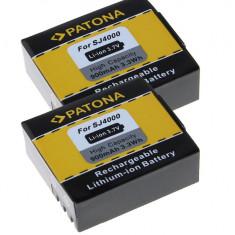 PATONA   2 Acumulatori pt SJ4000 SubTig3   900mAh - Baterie Aparat foto