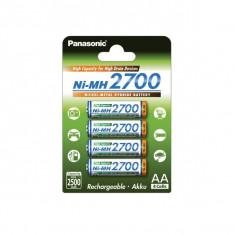Acumulator Panasonic AA HR-3U 2700mAh NiMH 4 buc./ Blister - Baterie Aparat foto Panasonic, Tip AA (R6)