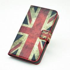 Toc piele ecologica flip Nokia Lumia 520 + folie protectie ecran - Husa Telefon Nokia, Rosu