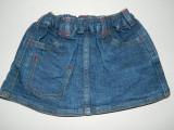 Fusta, fustita de blugi pentru bebeluse dragute, marimea 56 cm, Chicco, 3 luni, Albastru