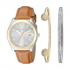 Ceas femei Fossil Perfect Boyfriend Leather Watch and Bracelet Set ES3771SET | 100% original, import SUA, 10 zile lucratoare - Ceas dama Fossil, Analog
