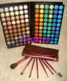Trusa machiaj paleta farduri 120 culori 7 pensule make up CADOU Paste dama!!