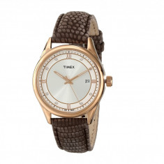 Ceas femei Timex City Casual Textured Leather Strap Watch | 100% original, import SUA, 10 zile lucratoare - Ceas dama