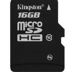 Card de Memorie Micro SD Kingston 16GB Clasa 10 - Card Micro SD