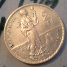2 LEI 1914 ARGINT DE COLECTIE SUPERBA 4 - Moneda Romania