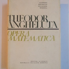OPERA MATEMATICA de THEODOR ANGHELUTA, 1970 - Carte Matematica