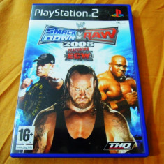 Joc WWE Smack Down vs Raw 2008, PS2, original, alte sute de jocuri! - Jocuri PS2 Thq, Sporturi, 18+, Multiplayer