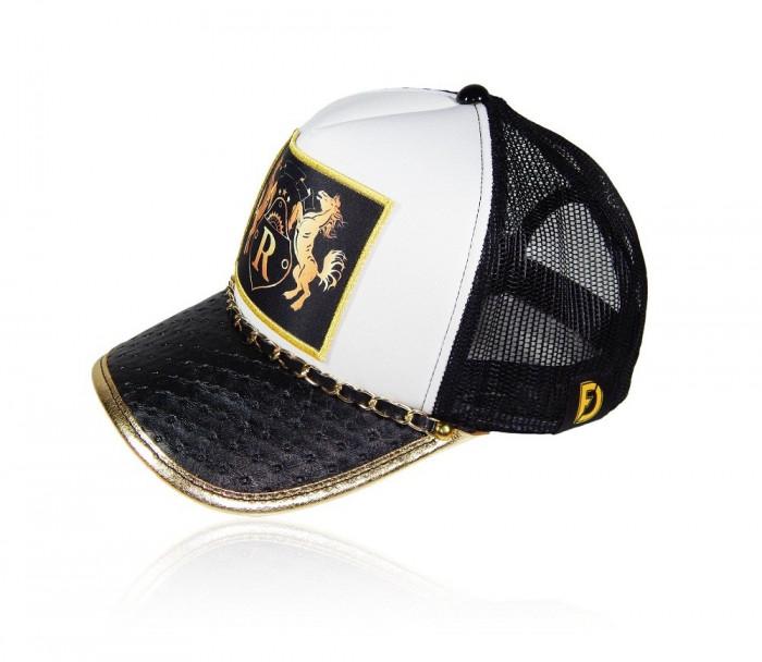 "Sapca Trucker Royal Black Gold ""Fashion Caps Romania"""