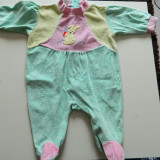 Salopeta, compleu cu picior, pijama, 3-9 luni, Disney. COMANDA MINIMA 30 LEI!