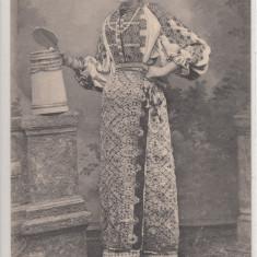CAMPULUNG, PORT POPULAR, PORTUL LA CAMPU - LUNG - Carte Postala Muntenia pana la 1904, Necirculata, Printata