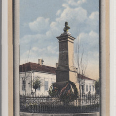 CALAFAT, SALUTARI DIN CALAFAT, MONUMETUL I.C. BRATIANU - Carte Postala Oltenia 1904-1918, Circulata, Printata