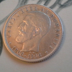 1 LEU 1906 ARGINT /8 - Moneda Romania