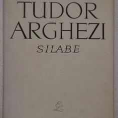 TUDOR ARGHEZI -SILABE