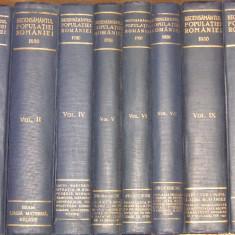 Recensamantul general al populatiei Romaniei - (Vol. 1,, 4, 5, 6, 7, 9, 10) - 1930 - Carte veche