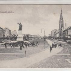 ARAD STATUIA LUI KOSSUTH - Carte Postala Crisana 1904-1918, Circulata, Printata